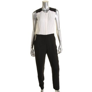 Dylan Gray Womens Woven Colorblock Jumpsuit