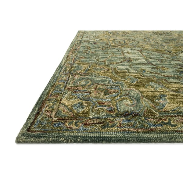 Alexander Home Madeline 100 Wool Hand Hooked Traditional Medallion Area Rug On Sale Overstock 22286576 Dark Green Tobacco 7 9 X 9 9