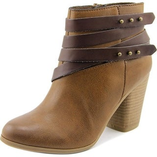 Material Girl Mini Round Toe Synthetic Ankle Boot