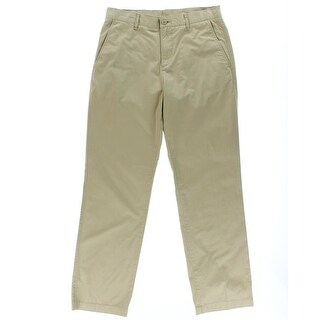 Lacoste Mens Twill Flat Front Chino Pants - 33