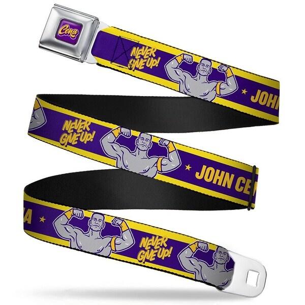 John Cena Script Full Color Purple White Gold John Cena Flex Pose Never Seatbelt Belt