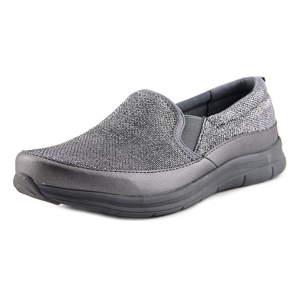 Easy Spirit e360 Sammi Women Round Toe Canvas Silver Loafer