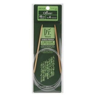 "Takumi Bamboo Circular Knitting Needles 48""-Size 4/3.5mm"
