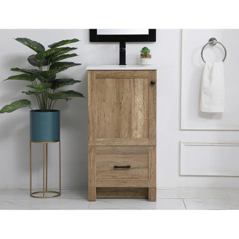 Abel Farmhouse Vanity Cabinet Set with Top