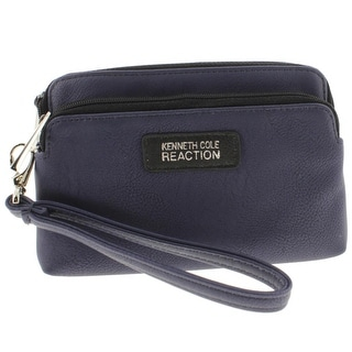 Kenneth Cole Reaction Womens Wristlet Wallet Faux Leather Tech - o/s