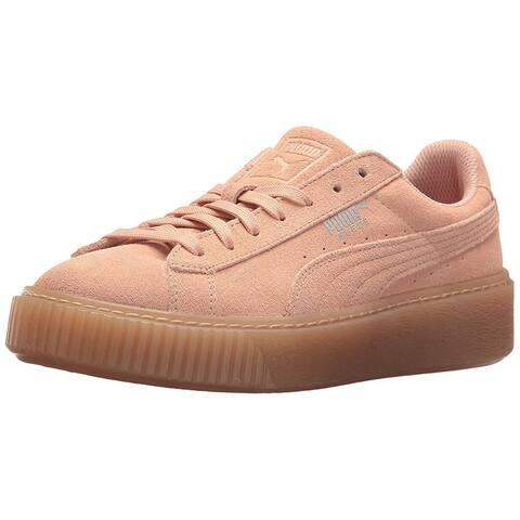 Kids PUMA Girls jewel Suede Low Top Lace Up Fashion Sneaker