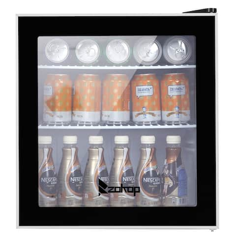 ZOKOP 1.6Cu.Ft/60CAN Wine and Beverage Refrigerator Black