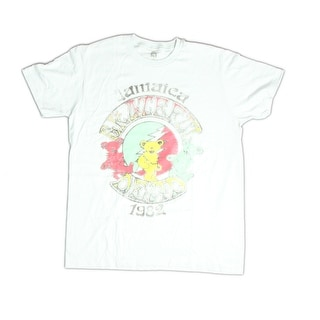 Grateful Dead Jamaica Logo Designed Front Side Printed Men's Grey Casual T-shirt