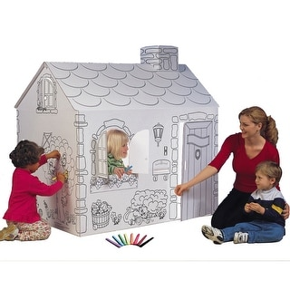 Color Your Own Princess Cottage Playhouse