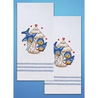 """Bird - Stamped Kitchen Towels For Embroidery 20""""X28"""" 2/Pkg"""