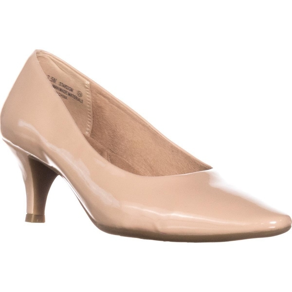 Aerosoles Stardom Pointed Toe Dress Pumps, Nude Patent