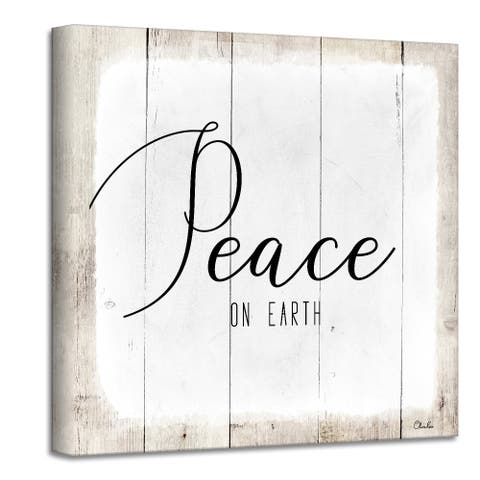Ready2HangArt 'Peace on Earth II' Holiday Canvas Wall Art by Olivia Rose