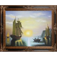 William Bradford 'A Sunset Calm in the Bay of Fundy' Hand Painted Oil Reproduction
