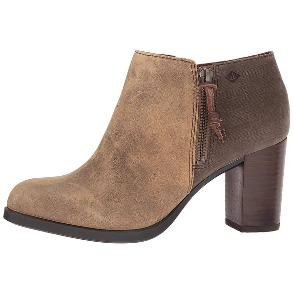 Sperry Womens DASHER LILLE Leather Almond Toe Ankle Fashion Boots