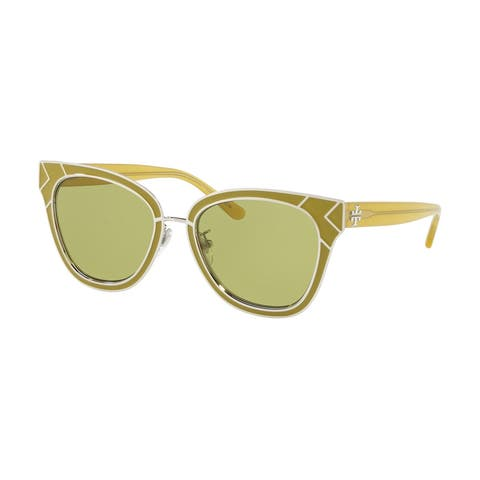 Tory Burch Square TY6061 Women's CORIANDER / SILVER Frame OLIVE Eyeglasses