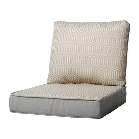 Haven Way Geometric Outdoor Seat & Back Cushion Set