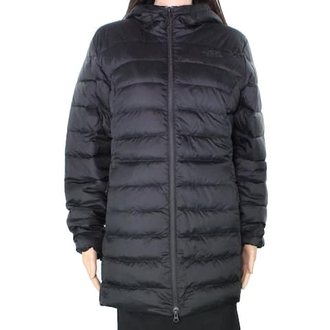The North Face Womens Jacket Deep Black Size Medium M Puffer Hooded