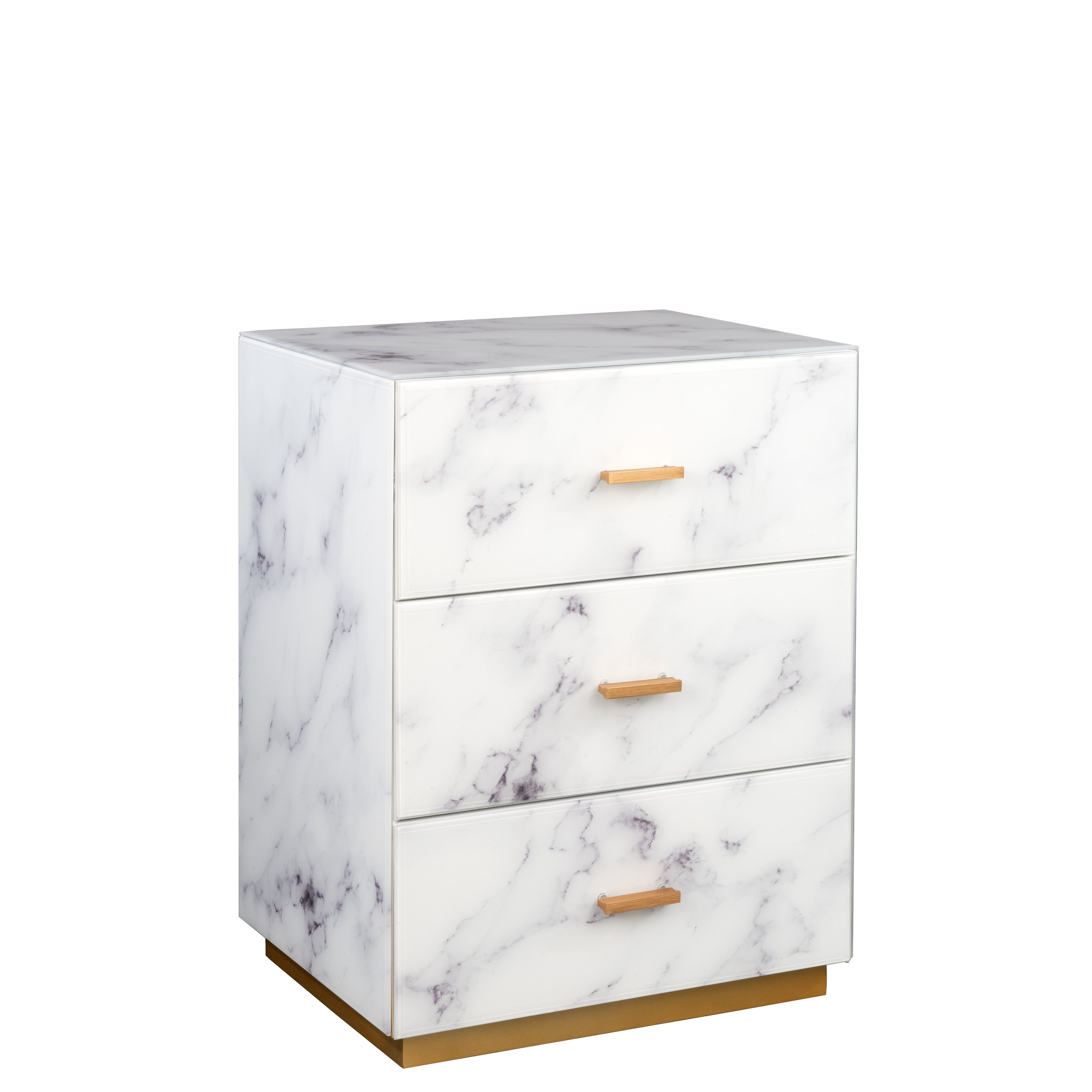 Statements By J Modern Nightstand W 3 Drawers 25 Inch Tall White On Sale Overstock 32042273
