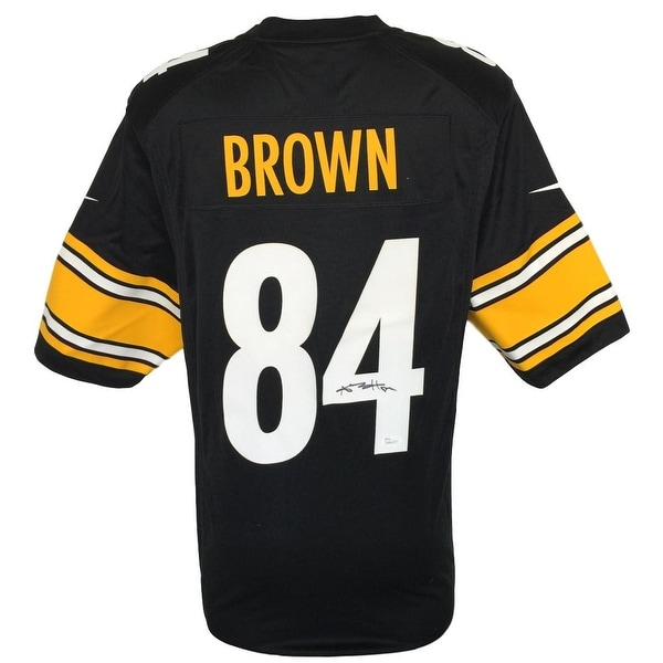wholesale dealer 50bef 6c1cb Antonio Brown Signed Pittsburgh Steelers Nike Game Replica Black Jersey JSA
