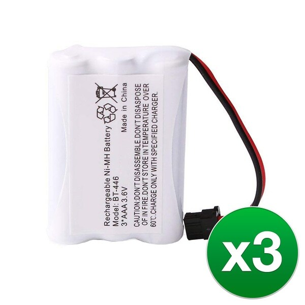 Replacement Battery For Uniden WXI477 Cordless Phones - BT446 (800mAh, 3.6V, Ni-MH) - 3 Pack