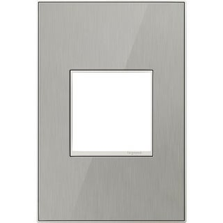 Legrand AWM1G2MS4 adorne 1 Gang Metal Wall Plate - 4.56 Inches Wide