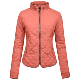 NE PEOPLE Womens Lightweight Quilted Zip Up Jacket [NEWWJ22] (More options available)