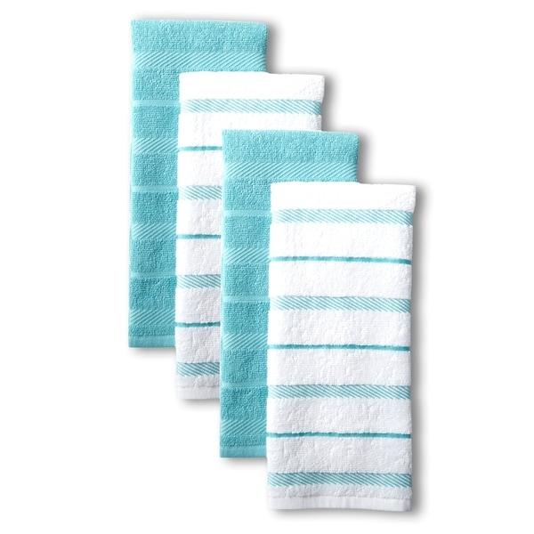 "KitchenAid Albany Kitchen Towel Set, Set of 4 - 16""x26"". Opens flyout."