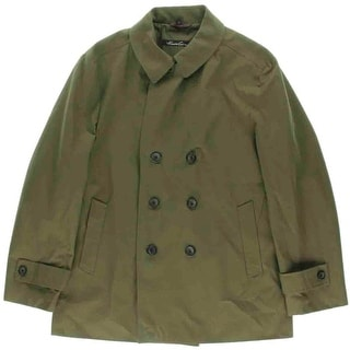 Kenneth Cole New York Mens Perth Double-Breasted Long Sleeves Raincoat