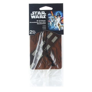 Star Wars Chewbacca Car Air Freshener 2-Pack (Vanilla Scent)