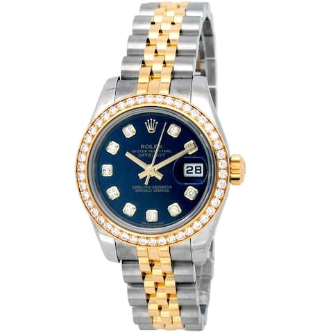 Pre-owned 26mm Rolex Two-tone Datejust Watch - One Size