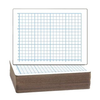 9 x 12 in. Dry Erase 2-Sided Quadrant 0.5 in. sq. Board, Pack of