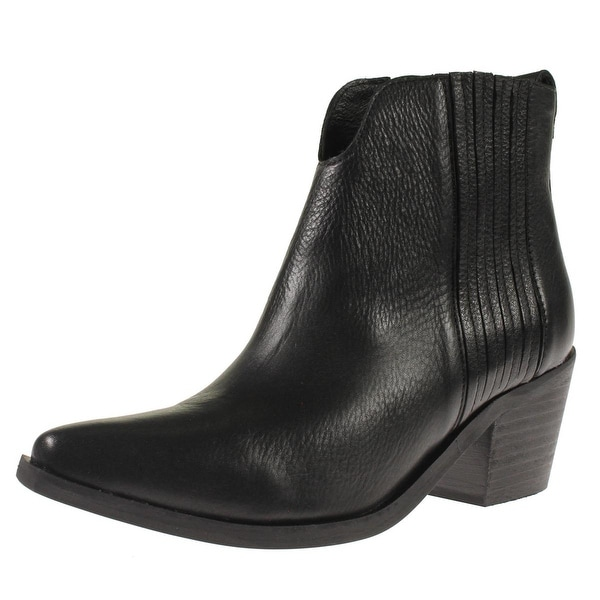Steve Madden Womens Webster Booties Solid Stacked Heel