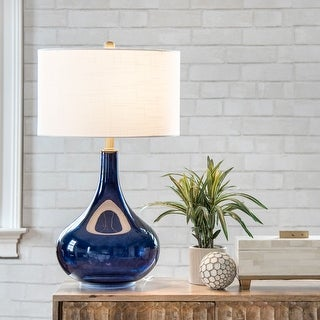 """nuLOOM Farrell 26"""" Glass Table Lamp"""