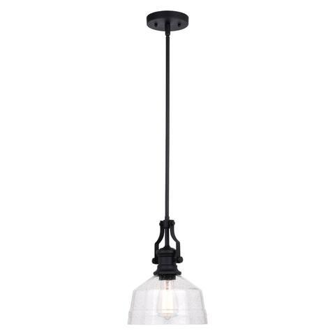 Beloit Farmhouse Kitchen Island Mini Pendant Ceiling Light Clear Seeded Glass