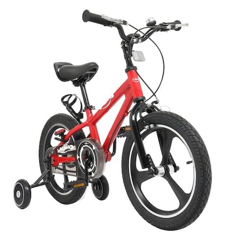 Kids Bike with Training Wheels,16 Inch, Red&Blue - N/A