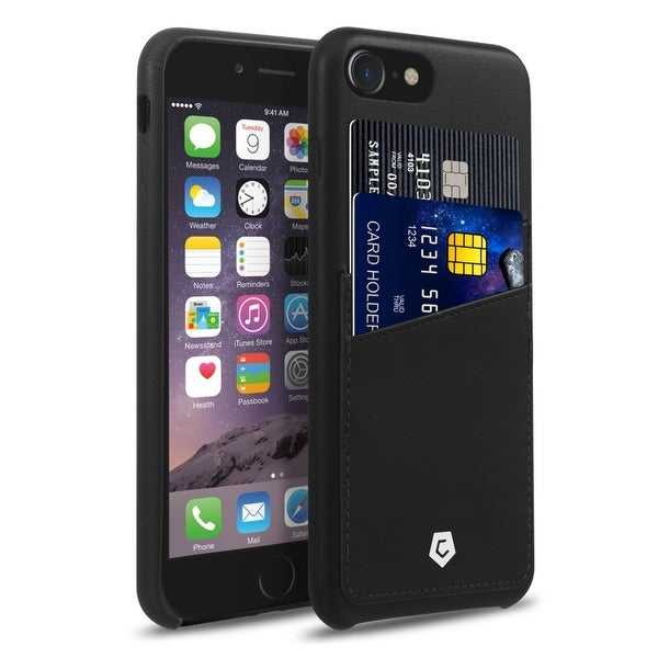 CobblePro Black Leather with Wallet Flap Pouch For Apple iPhone 7