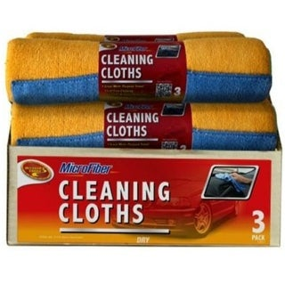 "Detailer's Choice 3-503 Microfiber Cleaning Cloths, 12"" x 16"", 3/Pack"