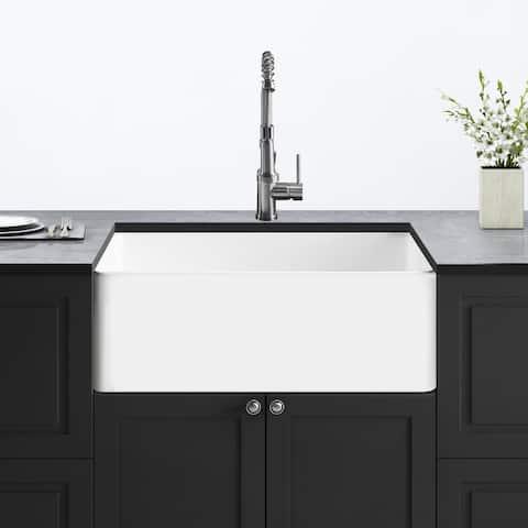 "Corvus Batavia 33"" x 18"" Farmhouse Fireclay Single Bowl Kitchen Sink"