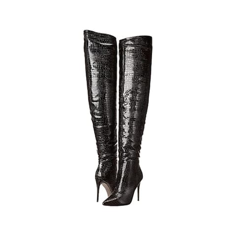 Steve Madden Women's Shoes Harlow Pointed Toe Over Knee Fashion Boots