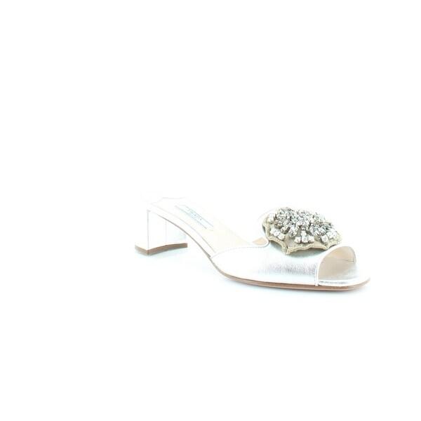 Prada Nappa Silk 2 Women's Heels Argento - 7.5