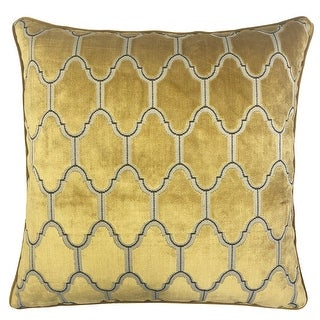 Link to Rodeo Home Alaya Luxury Cut Velvet Square Throw Pillow Similar Items in Decorative Accessories