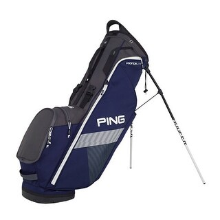New Ping 2018 Hoofer Lite Golf Stand Bag (Navy / Graphite / White) - navy / graphite / white