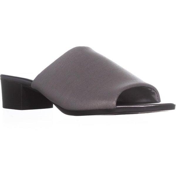 Bandolino Evelia Round Toe Slide Sandals, Pewter