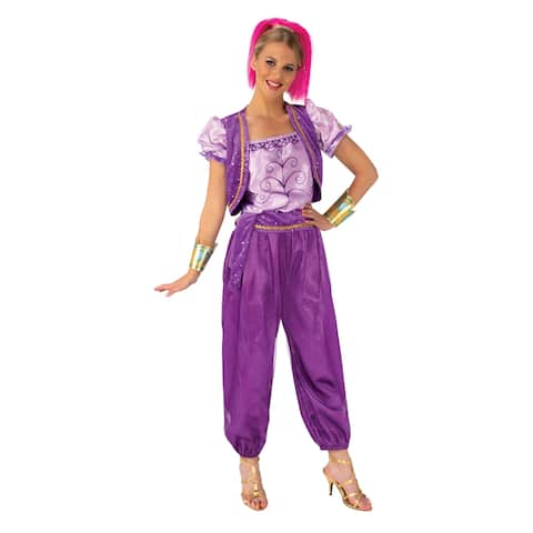 Purple Shimmer and Shine Deluxe Shimmer Adult Halloween Costume
