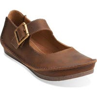 Clarks Women's Janey June Mary Jane Beeswax Leather