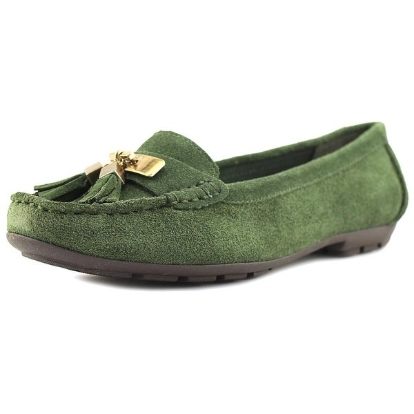 Womens Shoes Anne Klein Oates Green Suede
