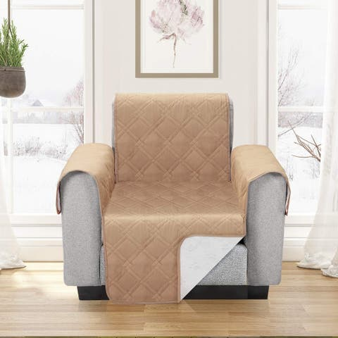 Waterproof Furniture Protector Sofa Cover Plush Slipcovers Protect