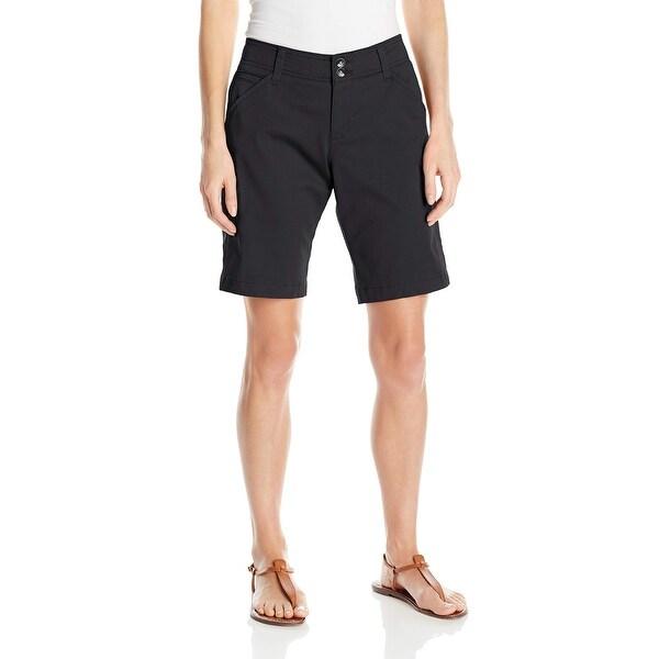 Lee Solid Black Womens Size 4 Midrise Fit Bermuda Walking Shorts