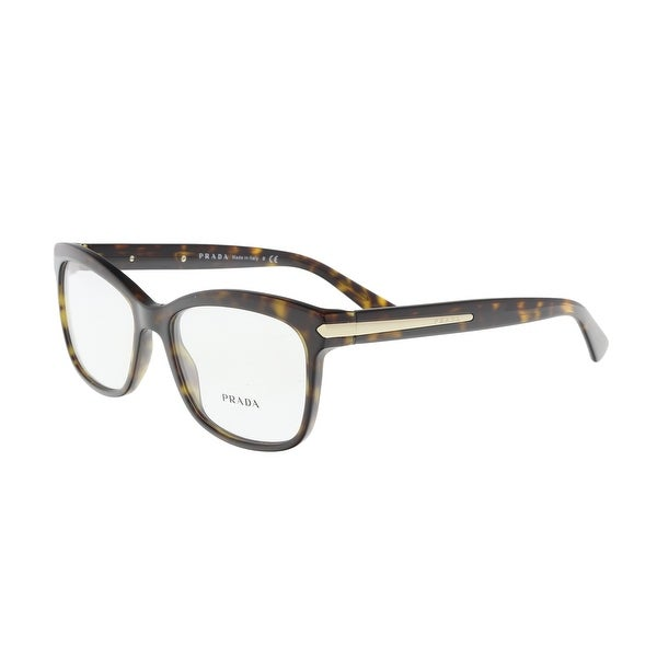 610fa6bb398 Shop Prada PR 10RV 2AU1O1 Havana Square Optical Frames - 55-17-140 ...