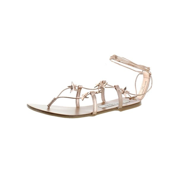 32d34d12db0 Shop Steve Madden Womens Whitney Strappy Sandals Metallic Stars ...